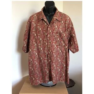 Brooks Brothers Sports Shirt Multicolor Paisley XL